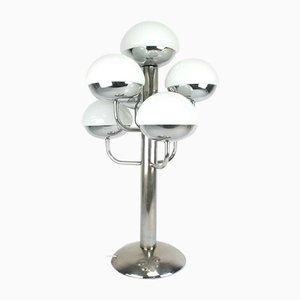 Verchromte Tischlampe aus Metall mit 6 Leuchten von Estiluz, 1960er