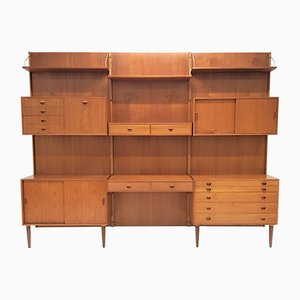 Conjunto de pared modular de teca de Rud Thygesen & Johnny Sørensen para HG Møbler, años 60