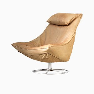 Delantra Leather Lounge Chair by Gerard van den Berg for Montis, 1970s