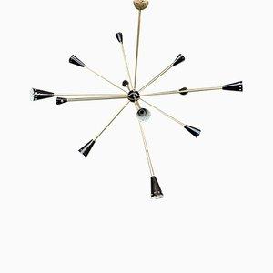 Mid-Century Italian Brass Sputnik Chandelier from Stilnovo, 1950s