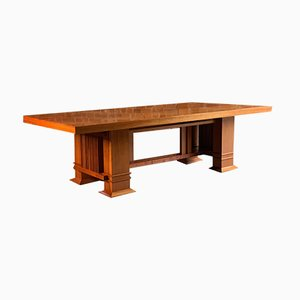 Mesa modelo 605 Allen de madera de cerezo de Frank Lloyd Wright para Cassina, años 80