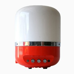 Red Radio Lamp by Adriano Rampoldi for Europhon, 1970s