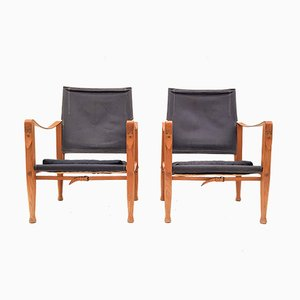 KK4700 Safari Ash Chairs by Kaare Klint for Rud. Rasmussen, 1960s, Set of 2