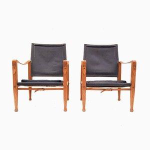 KK4700 Safari Eschenholzstühle von Kaare Klint für Rud. Rasmussen, 1960er, 2er Set