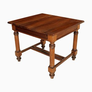 Square Antique Austrian Solid Walnut Table