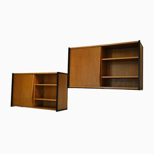 Mid-Century Wall Storage Units, 1950s, Set of 2