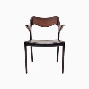 Modell 55 Armlehnstuhl aus Palisander von Niels Otto Møller für JL Møllers, 1960er