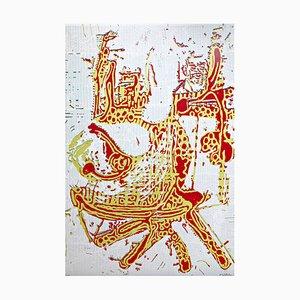 Großer Siebdruck von Markus Oehlen, 1998
