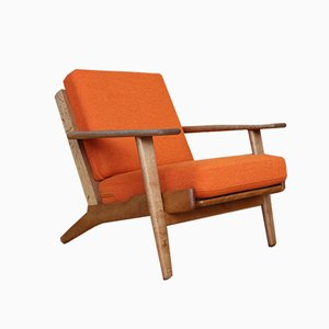 GE-290 Oak Lounge Chair by Hans Wegner for Getama, 1953