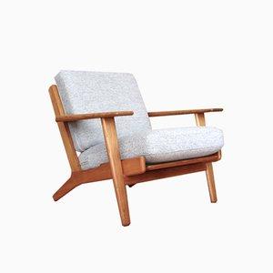 GE-290 Oak Lounge Chair by Hans Wegner for Getama, 1953