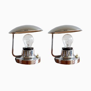 Czech Functionalist Table Lamps by Josef Hurka for Napako, 1930s, Set of 2