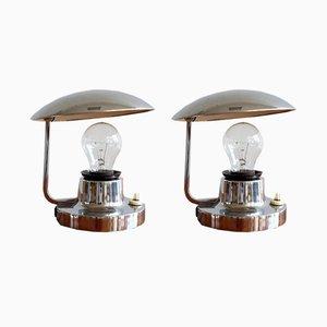 Lámparas de mesa checas funcionalistas de Josef Hurka para Napako, años 30. Juego de 2
