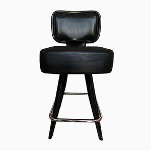 Chaise Pivotante Moderniste Vintage en Cuir de Gasser