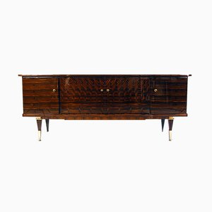Vintage French Laquered Macassar Ebony and Maple Sideboard