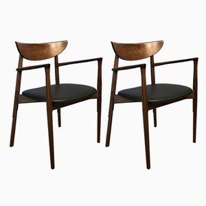 Rosewood Armchairs by Harry Østergaard for Randers Møbelfabrik, 1960s, Set of 2