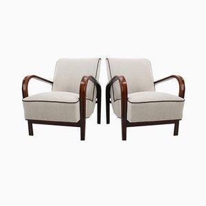 Vintage Lounge Chairs by Karel Koželka & Antonín Kropáček, 1960s, Set of 2