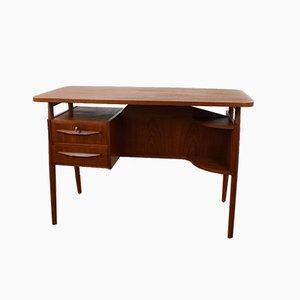 Vintage Schreibtisch aus Teak von Tibergaard, 1960er