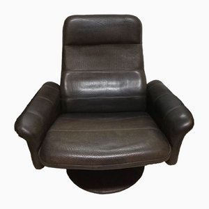 Vintage Leather Swivel Lounge Chair from de Sede, 1970s