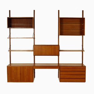 Mid-Century Danish Modular Royal System Teak Wall Unit by Poul Cadovius for Cado, 1960s