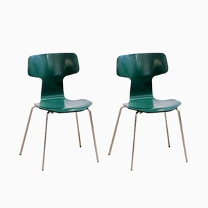 3103 Hammer Chairs by Arne Jacobsen for Fritz Hansen, 1970s, Set of 2