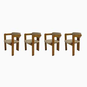 Mid-Century Armlehnstühle Pigreco von Tobia Scarpa für Gavina, 4er Set