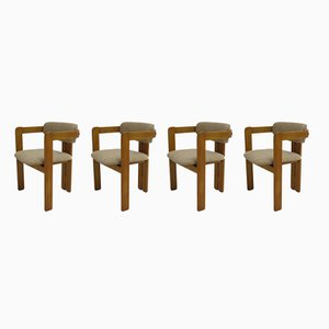 Mid-Century Pigreco Armchairs by Tobia Scarpa for Gavina, Set of 4