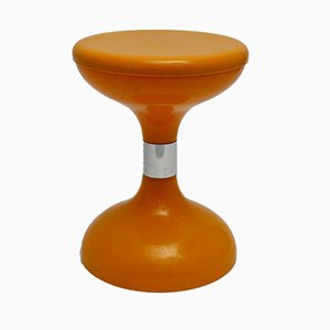 Vintage Orange Tulip Stool from Biemme, 1970s