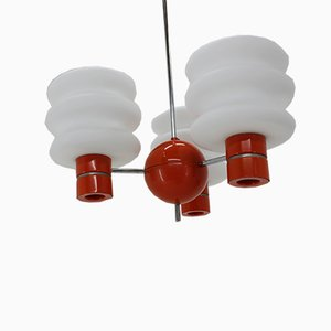 Vintage Set with Chandelier and Wall Lamp from Napako, 1970s