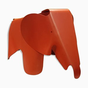 No. 38/1000 Red Plywood Elephant Stool by Charles & Ray Eames for Vitra, 2000s