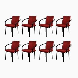 Model Mandarin Dining Chairs by Ettore Sottsass for Knoll Inc., 1980s, Set of 8