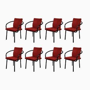 Sedie da pranzo Mandarin di Ettore Sottsass per Knoll Inc., anni '80, set di 8