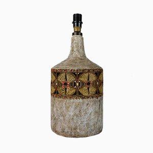 Pied de Lampe Accolay en Céramique Perforée par Raphael Giarrusso, 1960s