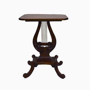 Antiker Lyra Tisch aus Mahagoni