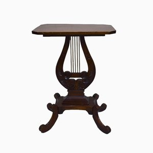 Antique Mahogany Lyre Table