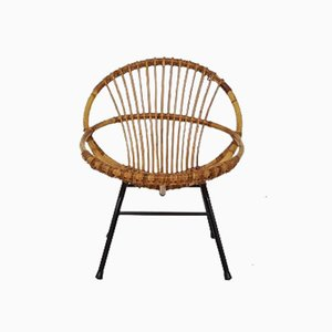 Bamboo Lounge Chair by Rohé Noordwolde, 1950s