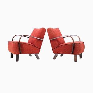 Vintage Armlehnstühle von Jindřich Halabala, 1960er, 2er Set