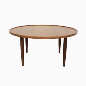 Round Danish Modern Teak Coffee Table, 1960s