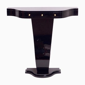 Black Lacquered Console Table from ADM