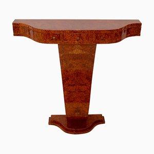 Mesa consola de madera nudosa de amboina de ADM