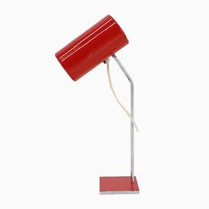 Lámpara de mesa vintage en rojo de Lidokov, años 60