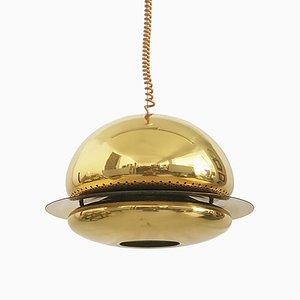 Lampada Nictea in metallo dorato di Tobia & Afra Scarpa per Flos, anni '70