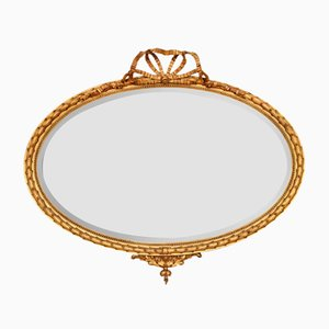 Oval Antique George III Style Gilt Wall Mirror
