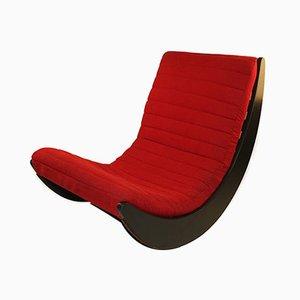 Sedia a dondolo rossa di Verner Panton per Rosenthal, anni '70