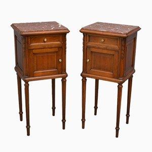 Antique Bedside Cabinets, Set of 2