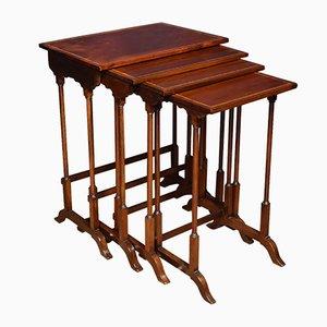 Tavolini ad incastro antichi in mogano