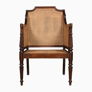 Antique Regency Style Bergere Armchair