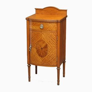 Edwardian Satinwood Bedside Cabinet