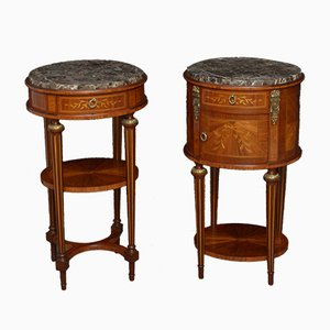 Antique Rosewood Bedside Cabinets, Set of 2