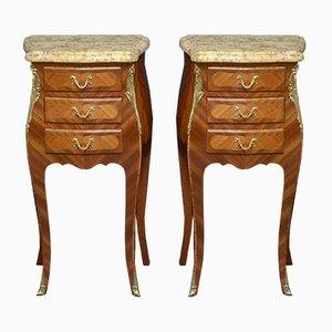 Tulipwood Bedside Cabinets, 1930s, Set of 2