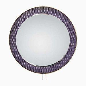 Espejo redondo morado de Floris Fiedeldij para Artimeta, años 60